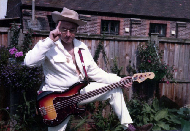 Dad posing with my bass