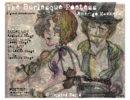 the burlesque poetess & guest decadanceer: amerigo mackeral by mindbum
