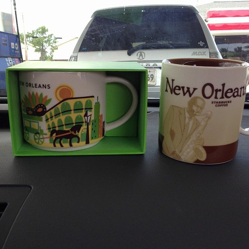 117:365 Lunch stop in New Orleans and 2 new #starbucks mugs for my collection. Also added Florida this trip, but didn't get Orlando.