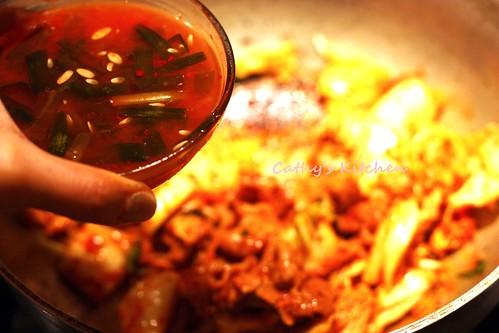韓式辣泡菜豆腐豬肉湯 Pork Kimchi JjiGae  7
