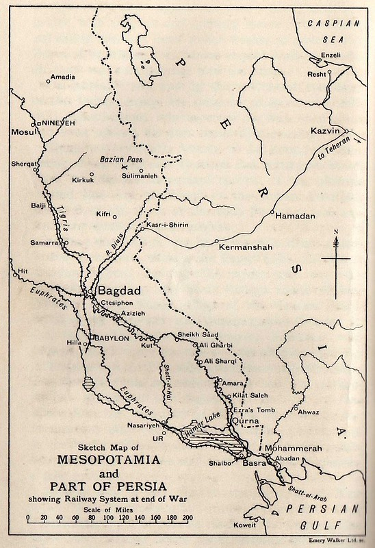 Map showing Mesopotamia and Ahwaz in Persia001