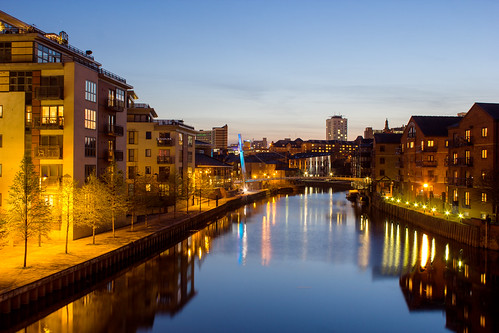 night reflections river leeds bridges aire infocus highquality saunest