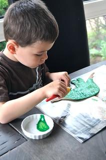 Painting Stegosaurus Dino