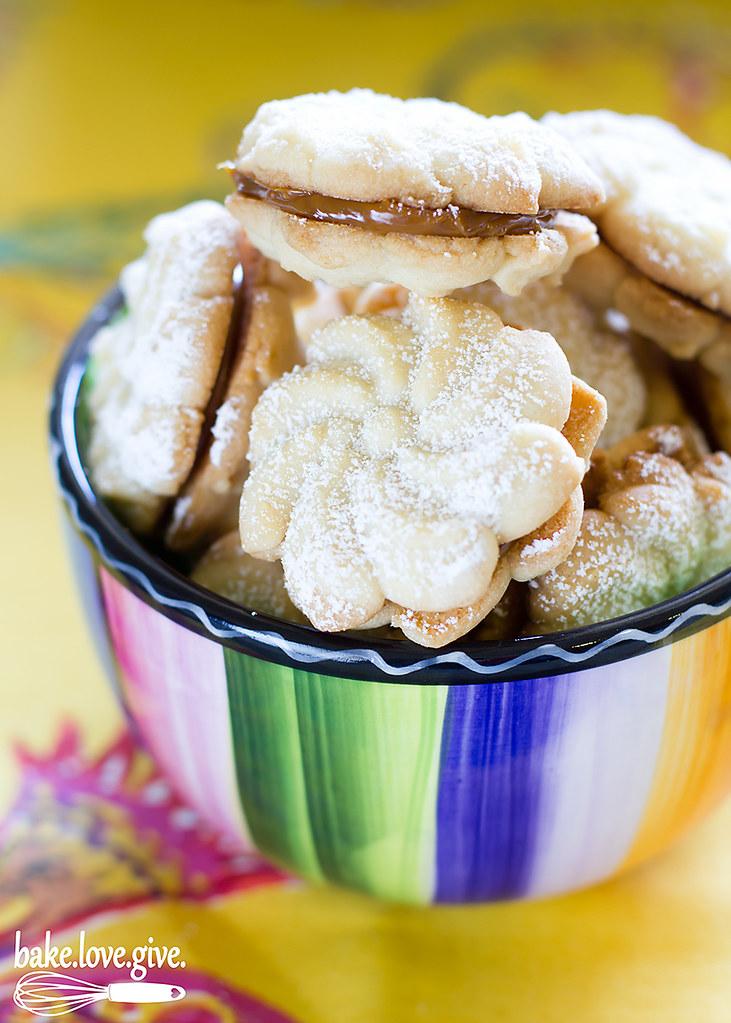 Alfajores Spritz Cookies