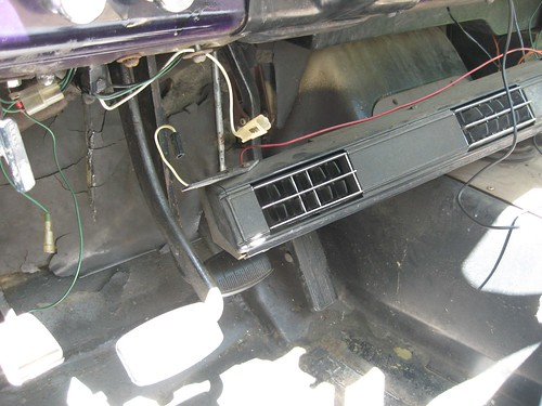 Pulling the AC vent bar down