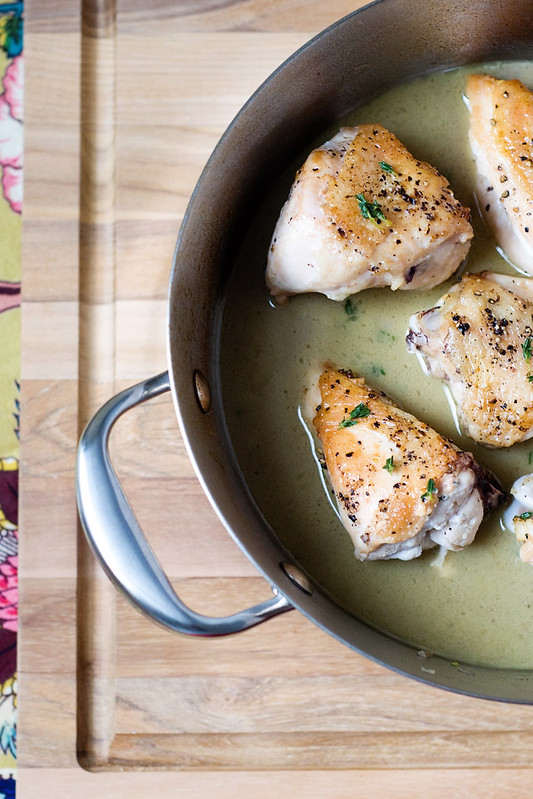 Pan-Roasted Chicken with Cognac Mustard Sauce