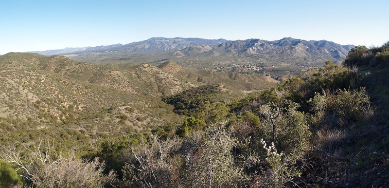 PCT San Felipe Hills - looking north toward Warner Springs