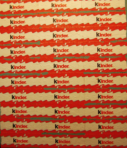 Kinder Chocolate Wrappers. Mixed Media Collage. (May 14 2013)
