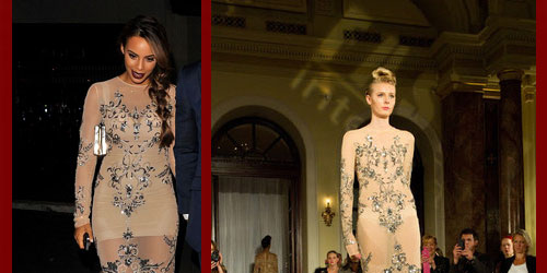 Rochelle Humes in Yuvna Kim SS14 dress