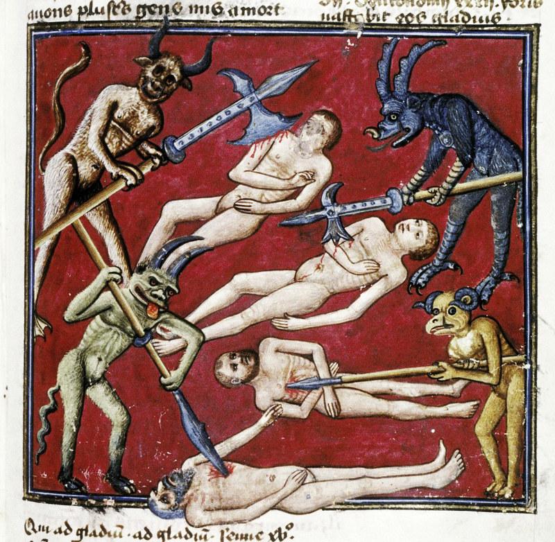 Demons From The Livre de la vigne nostre Seigneur, 1450 - 70 (11)