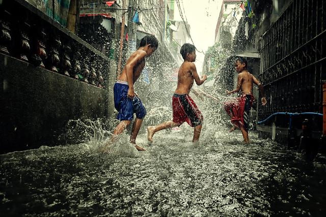 Monsoon rain and flood