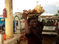 Ondo woman hawking plantain chips in Akure, Ondo, Nigeria. #JujuFilms