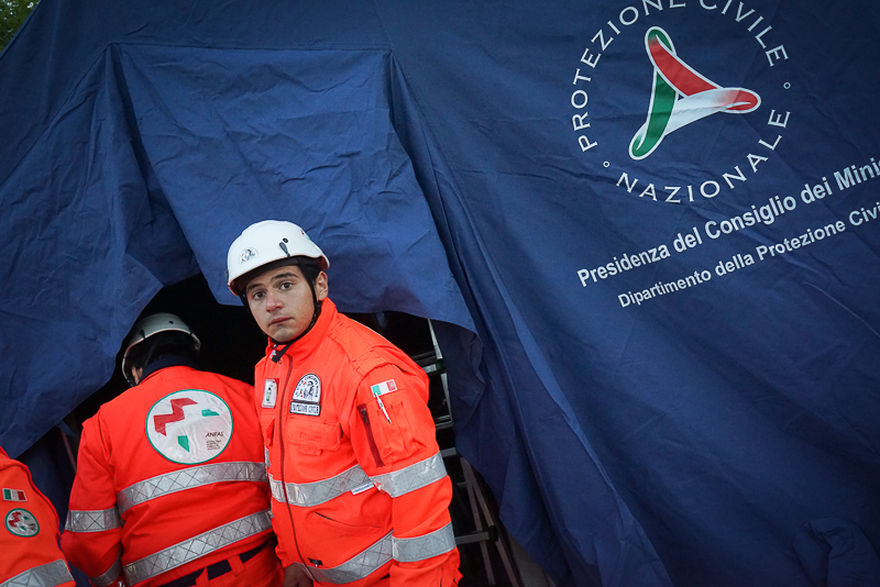 Terremoto centro Italia: il campo Anpas di Amatrice