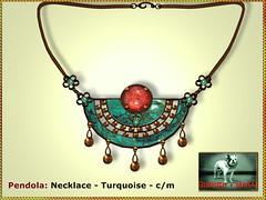 Bliensen - Pendola - Necklace Turqoise