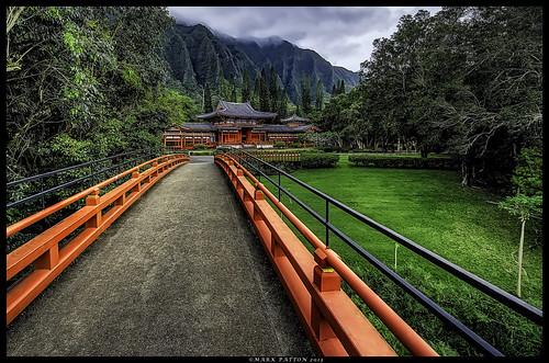 bridge mountains art temple japanese hawaii nikon peace oahu happiness kaneohe hdr byodoin valleyofthetemples kahaluu koolua d7000 ©markpatton