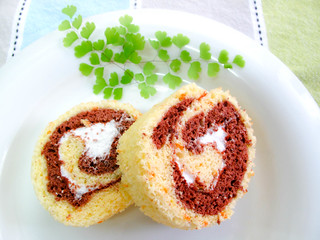 IMG_0701 Dual colour Swiss Roll  , 双色瑞士卷