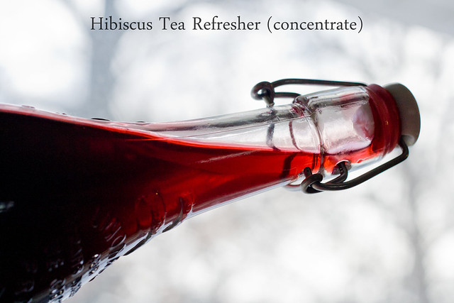 Hibiscus Tea Refresher Concentrate