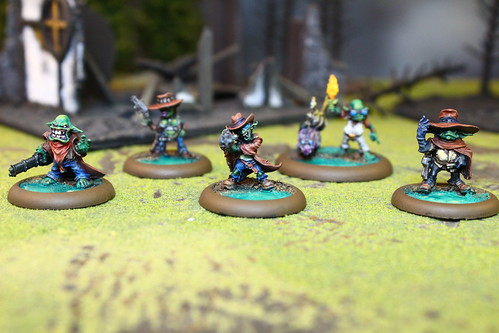Neverborn miniatures from the Malifaux War Game and Wyrd Miniatures