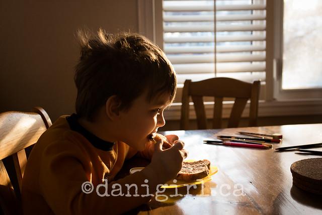 Backlit breakfast