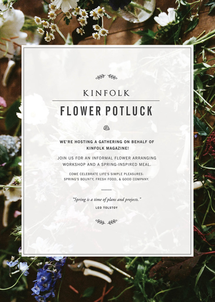 Flower Potluck Announcement