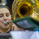 Titan Band -- Steph Jones plays trombone in Titan Band.