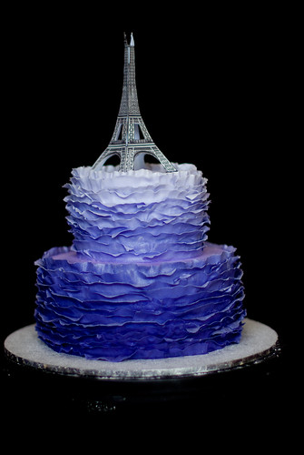 ombre frill cake