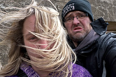Windy visit to Brean Down Fort