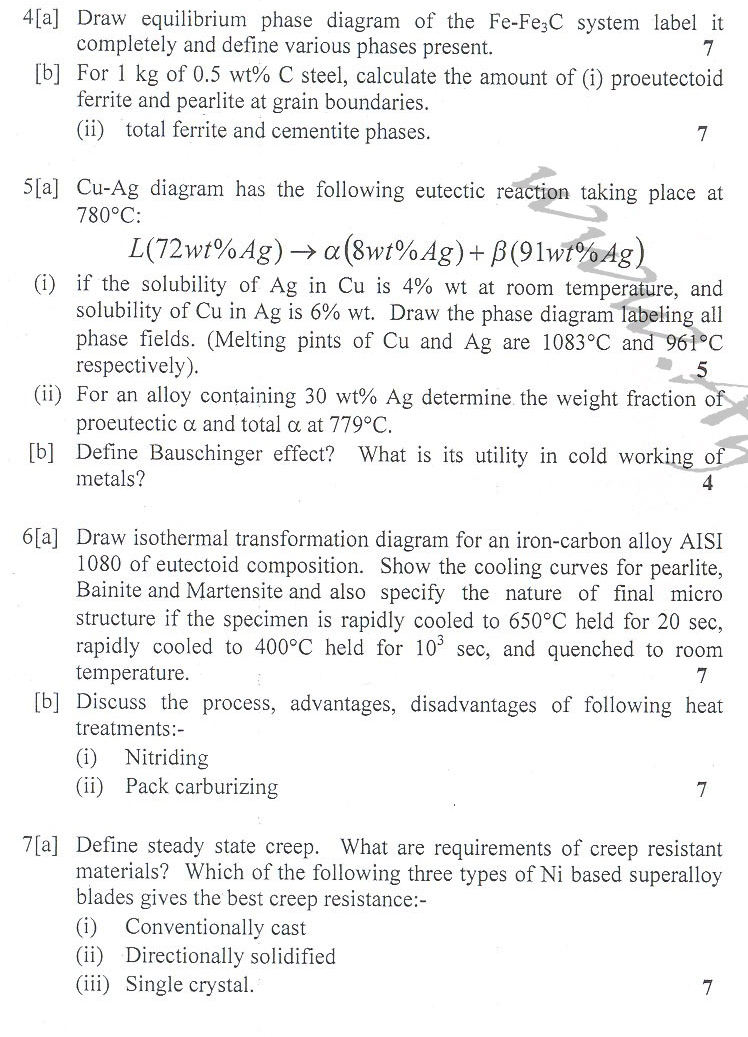DTU Question Papers 2010 – 6 Semester - End Sem - ME-315