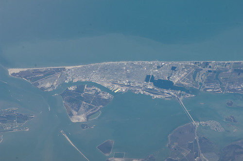 Galveston Island (NASA, International Space Station, 03/12/13)