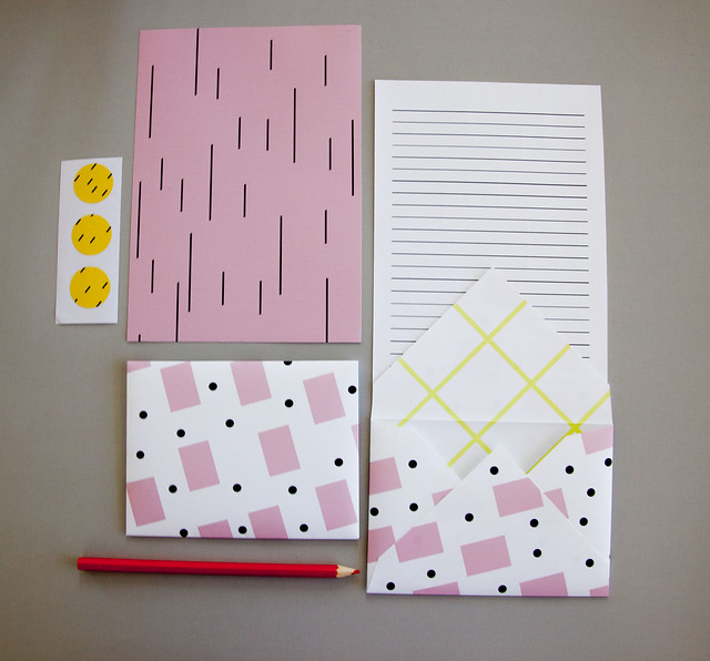 pink stationery set_2