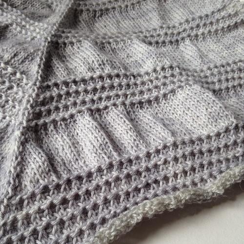 Zilver shawl - FO, unblocked
