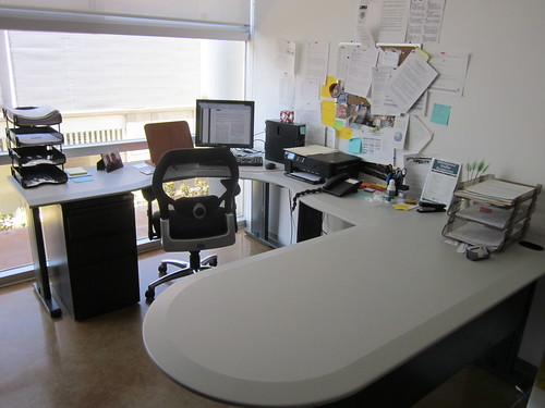 My office desk (clean and spotless after clearing up my to-do list)