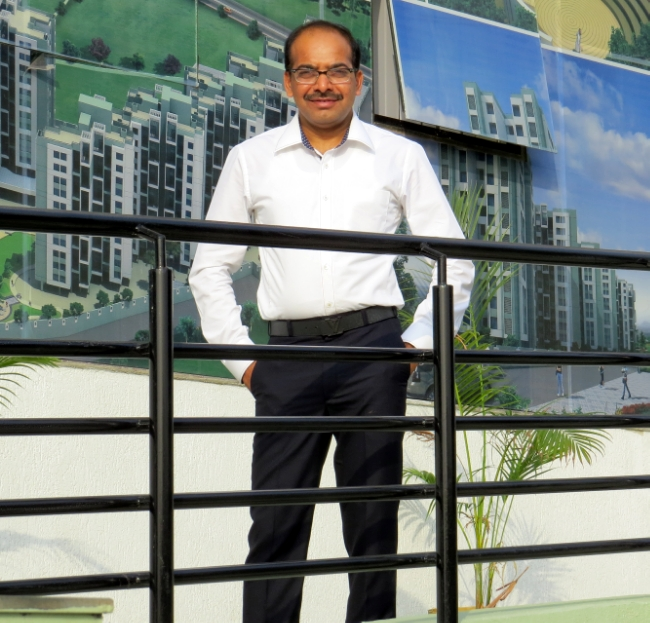 Mr. Ankush Asabe at the Club House of Venkatesh Lake Vista, Ready Possession 1 BHK 2 BHK 3 BHK Flats at Ambegaon PMC
