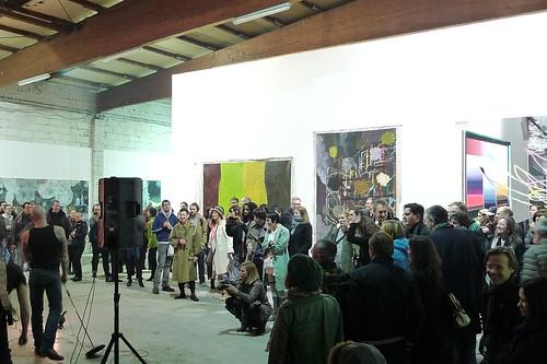 Ausstellungseröffnung in der Ölhalle in Offenbach. Malerei und Musik. April 2013
