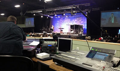 MeyerSound Install at FCF - ihopkc in Grandview, MO