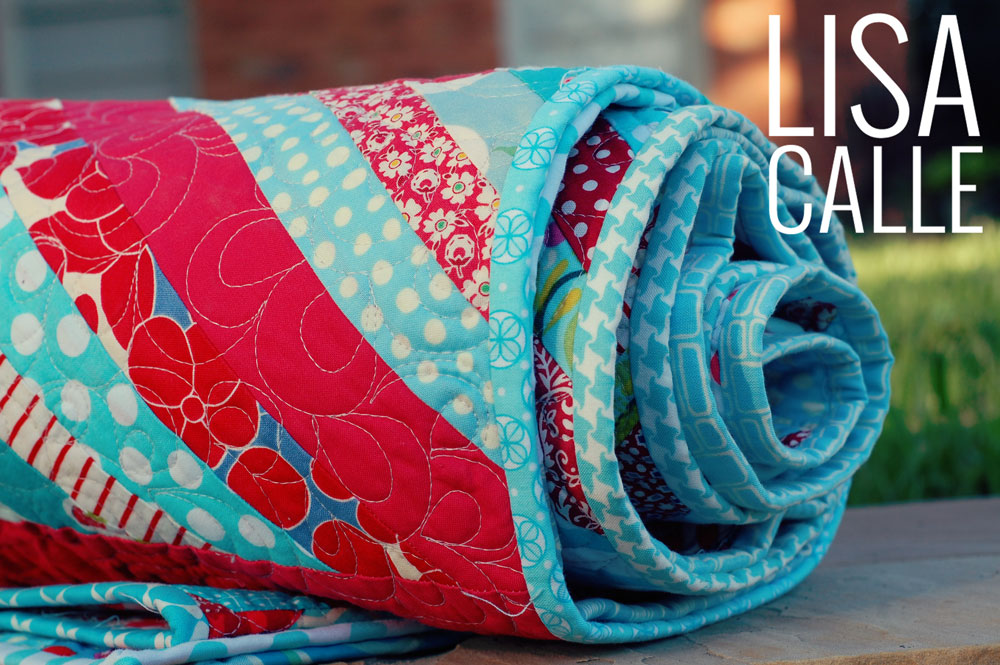 Red & Aqua | Scrappy Binding