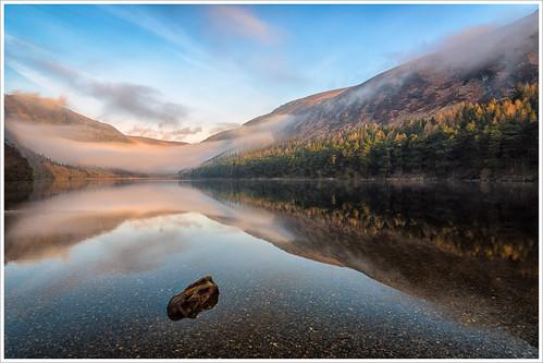 morning ireland irish lake mountains misty fog sunrise dawn nikon glendalough wicklow