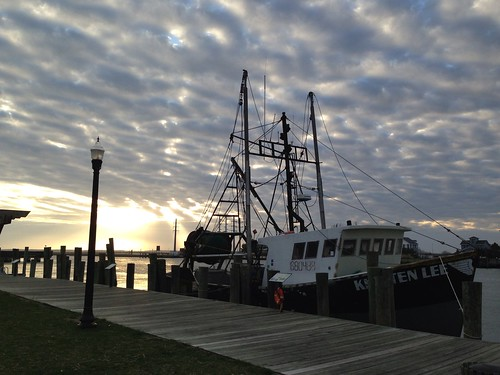 Chincoteague Island Sunset and Fishing Boat