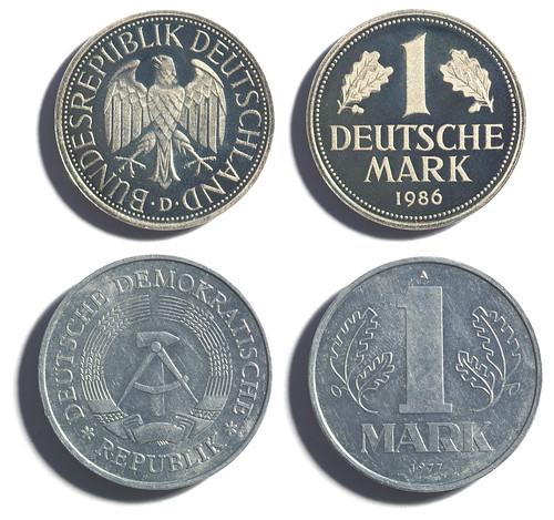 1 Marco. República Federal y República Democrática de Alemania