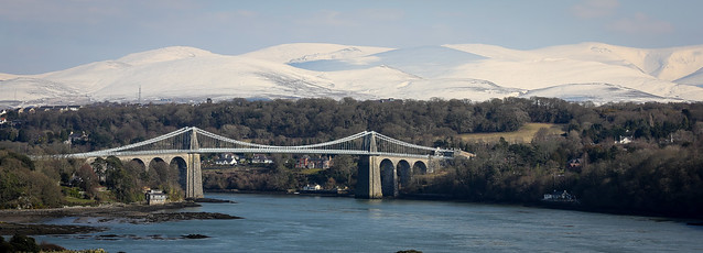 The Menai Suspension Bridge (25x9 version)