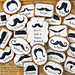 Mustache Birthday Cookies by Whisked Away Cookies