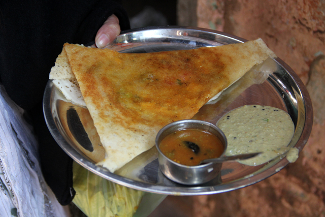 Masala dosa in Varanasi, India