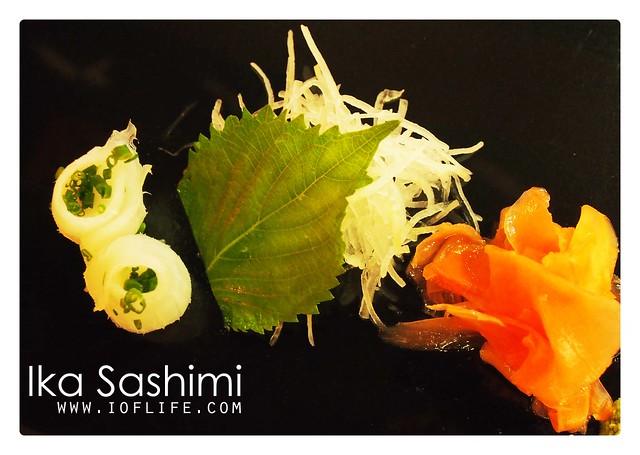 Ika sashimi umaku