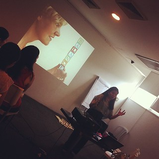 @optimommy speaking at #bloginspired
