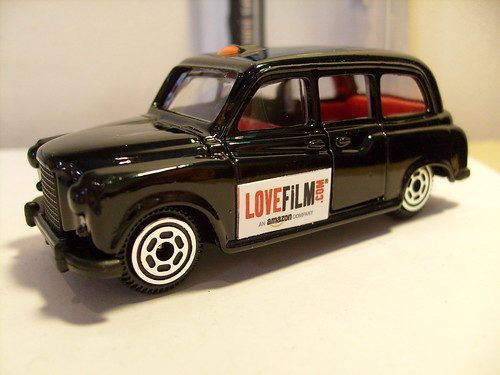 REALTOY AUSTIN FX4 LONDON TAXI NO24 LOVEFILM.COM 1/64