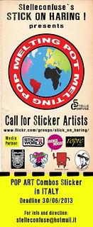 MELTING POT MELTING POP - Call for Sticker Artists