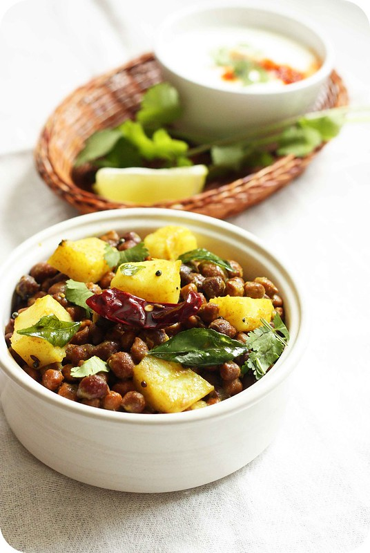 ... Potato and Black Chickpeas Salad - Monsoon Spice | Unveil the Magic of