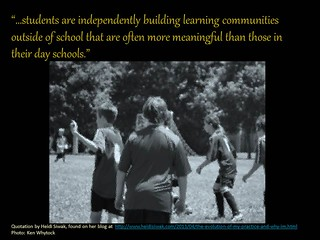 Students are building independent learning communities