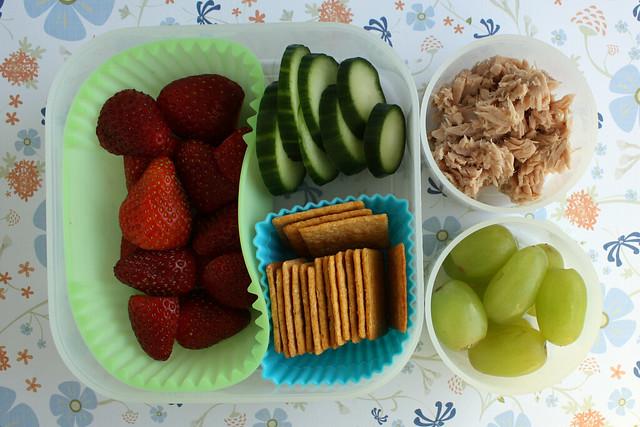 Preschool Tuna and Crackers Bento #432