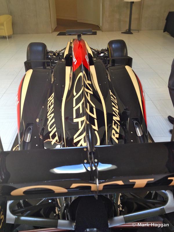 Romain Grosjean's car at Lotus F1 Headquarters